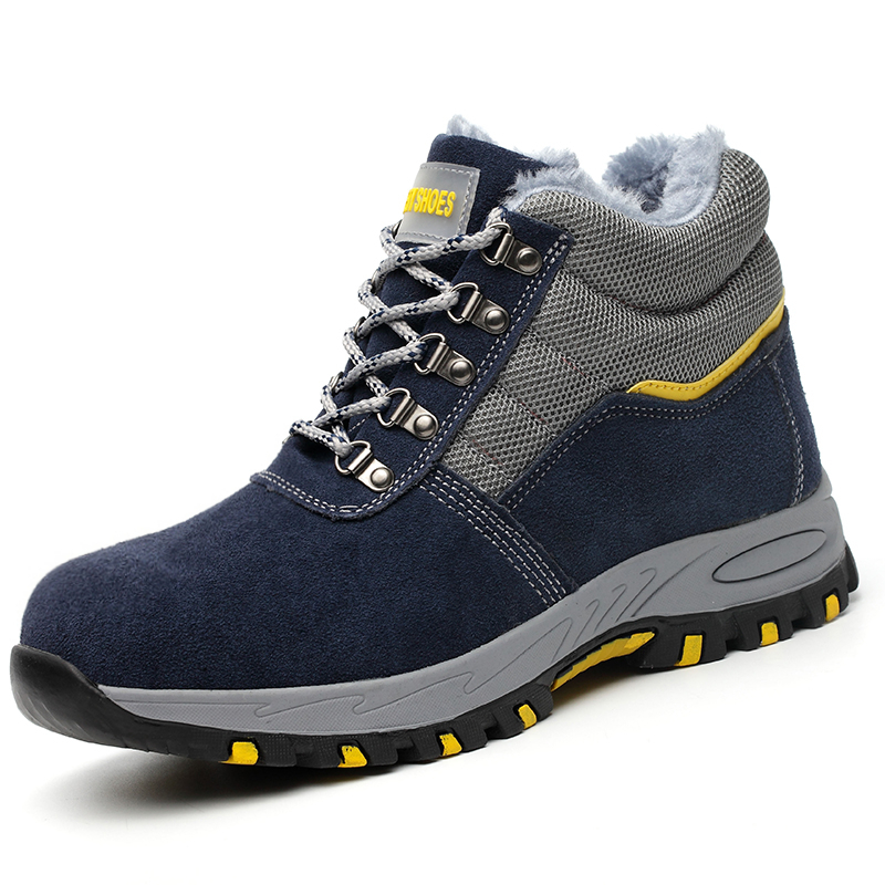 big size men casual steel toe cap working safety winter warm fur shoes soft leather platform ankle snow tooling security boots big size men casual breathable steel toe cap working safety shoes soft leather non slip tooling security boots protective zapato