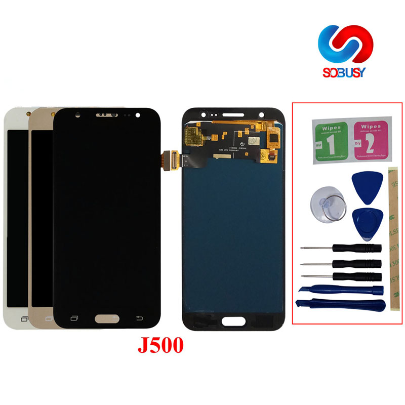 J5 LCD For Samsung Galaxy J5 <font><b>J500</b></font> J500F J500FN J500Y J500M LCD <font><b>Display</b></font> Touch Screen Pantalla Digitizer Assembly Monitor Replace image