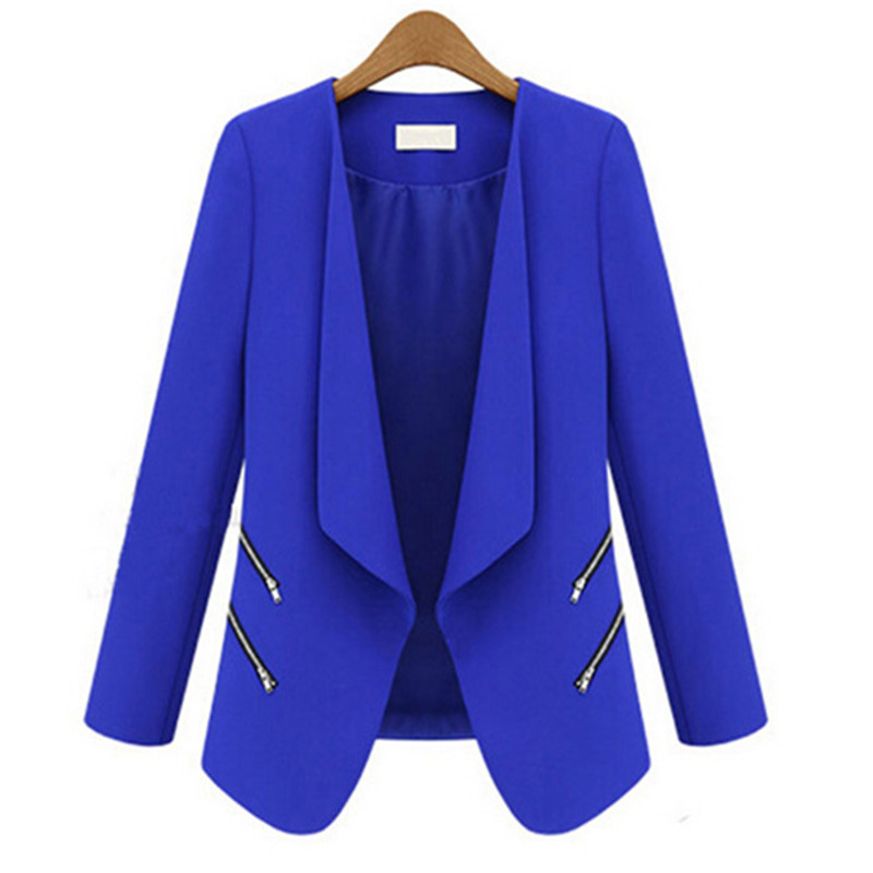 Nice New Fashion Casual Plus Size Women Zippers   Jacket   Suit Lady   Basic     Jackets   Women Spring Autumn Top Quality A152