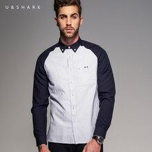 Italien Stil Mode Langarm Streifen Freizeithemd Männer Marke Bluse Baumwolle Chemise U & Shark Luxus Designer Hochzeit Shirt männlich