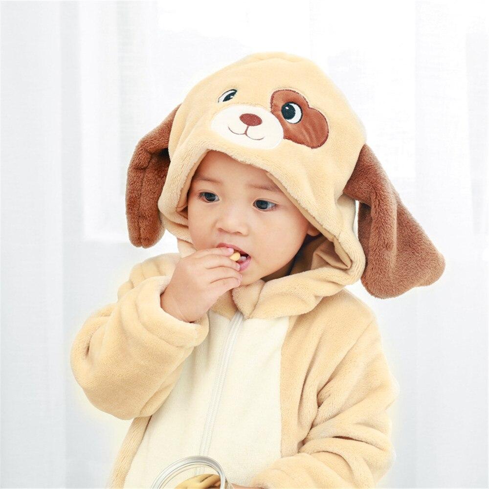 Bruine Hond Kigurumi Baby Dier Kostuum Grappige Leuke Festival Jumpsuit Kind Kid Warme Zachte Bodysuit Kerstfeest Cartoon Cosplay Om Het Lichaamsgewicht Te Verminderen En Het Leven Te Verlengen