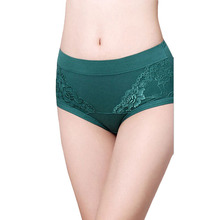 33224dcb12 Lace embroidery Seamless Women Cotton Panties Middle Waist Sexy comfort Lace  Briefs Underwear calzones mujer de marca CD71