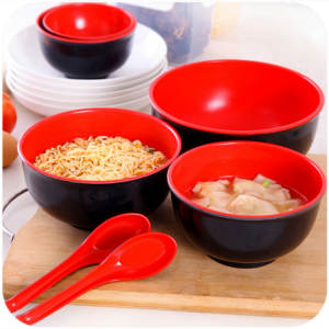 Bowl Tableware Noodle Soup Anti-Drop Spoon Imitation-Porcelain Melamine Japanese-Style