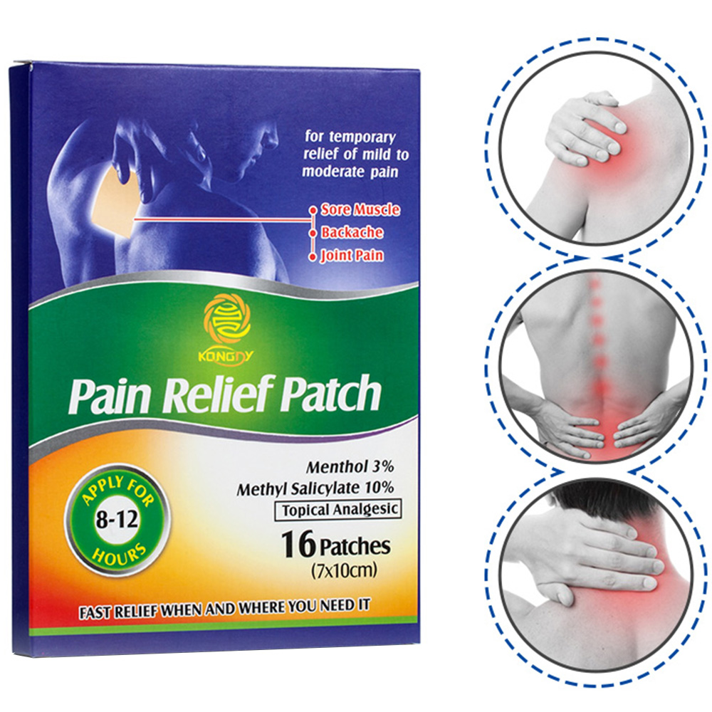 KONGDY 16 Pieces Pain Relief Patch 7*10 CM Chinese Medical Back/Muscle Pain Killer Health Care Neck/Arthritis Pain Reliever physical pain therapy system shock wave machine for pain relief reliever new 2000 000 shots