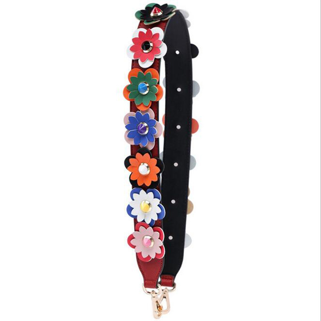 SFG HOUSE FASHION Flower All Matched Bag Strap Colorful Rivet Shoulder Straps Replacement Crossbody Strap Women Bags Accessories fashion house
