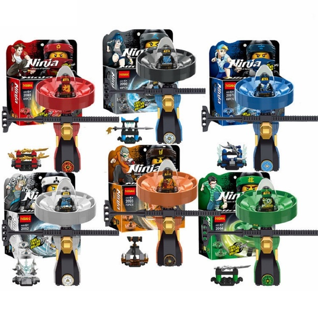 NINJAGO Kai Nya Jay Cole Zane Lloyd Spinjitzu Master Ninja Movie  Compatible Kids gift Model Building Blocks top Toy