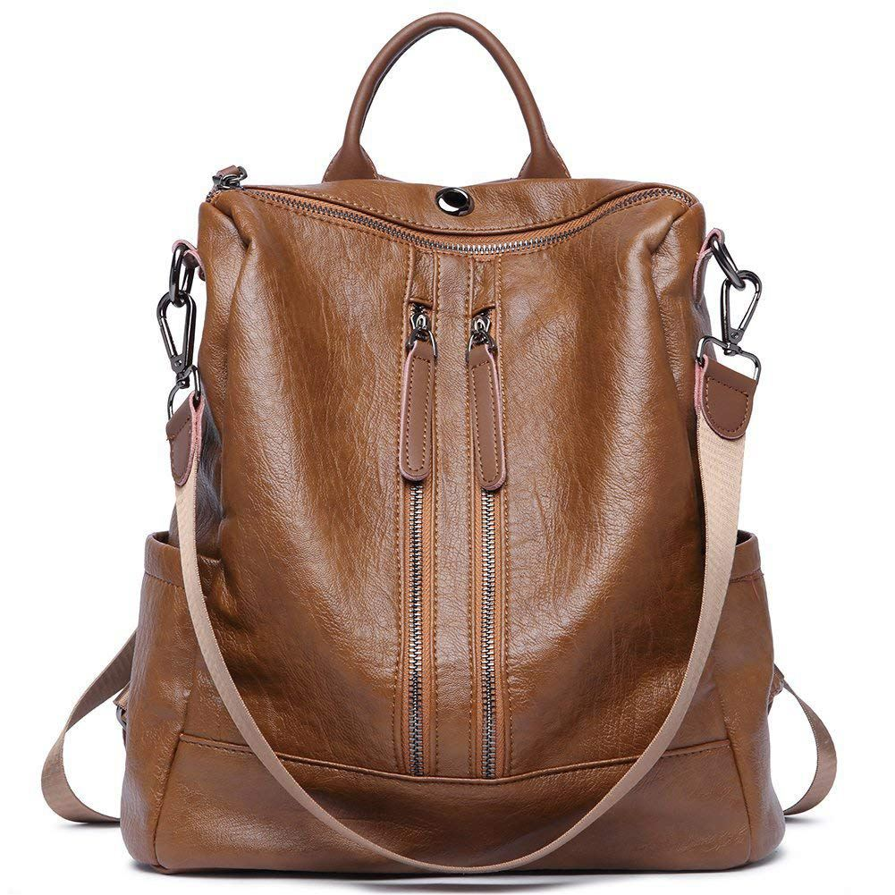 064ca356d616 Women Backpack Purse PU Leather Fashion Travel Casual Detachable Convertible  Ladies Shoulder Bag-in Backpacks from Luggage   Bags on Aliexpress.com ...