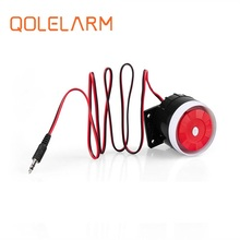 Qolelarm free shipping 120dB 6 12VDC wired indoor mini siren Horn loudly siren for gsm wireless alarm system
