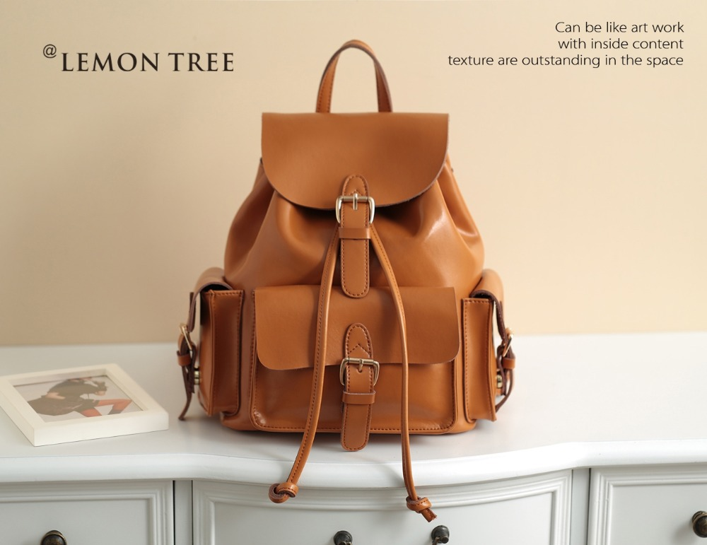 NEW 2015 Women Backpack Genuine Leather Bags Leather Backpacks ...