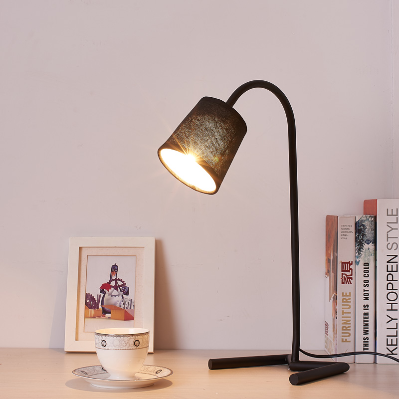 Led Desk Lamp Lustre Modern Table Lamp Reading Study Light Bedroom Bedside Lights Acrylic Lampshade Home Lighting Design Lamps indoor brief solid oak wood textile desk lamp fabrics lampshade table light bedroom bedside warm lampara night light luminaria