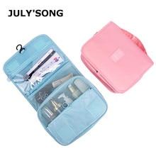 JULYS SONG Large Capacity Make Up Bag Multifunctional Hanging Hook Wash Waterproof Toiletry Travel Cosmetic Case