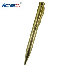ACMECN Carved Design Ball Pen Luxurious Retractable Twist Action Plating Metallic Gold Pens 1.0mm Writing Point Unisex
