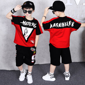 Image 5 - Children Clothing Sports Suit Boy Summer Set Two piece Childrens Wear stitching suit 4 6 8 10 12 14 16 Years old Child clothes