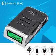 PALO cargador de batería recargable de 1,2 V, AA, AAA, pantalla LCD, cargador de batería inteligente para pilas AA y AAA
