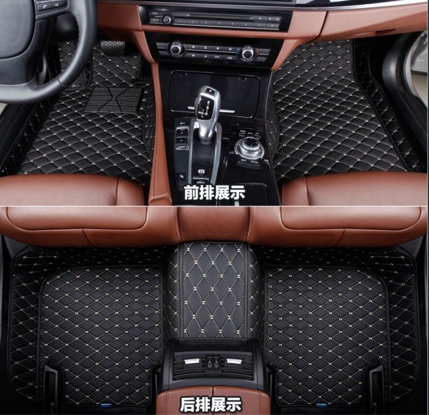For Audi Q7 4M 2016 2017 Leather Interior Leather Carpets Cover Car Foot Mat Floor Pad 1set only fits for 5Seats 2004 2006 for bmw x5 e53 2004 2005 2006 accessories interior leather carpets cover car floor foot mat floor pad 1set