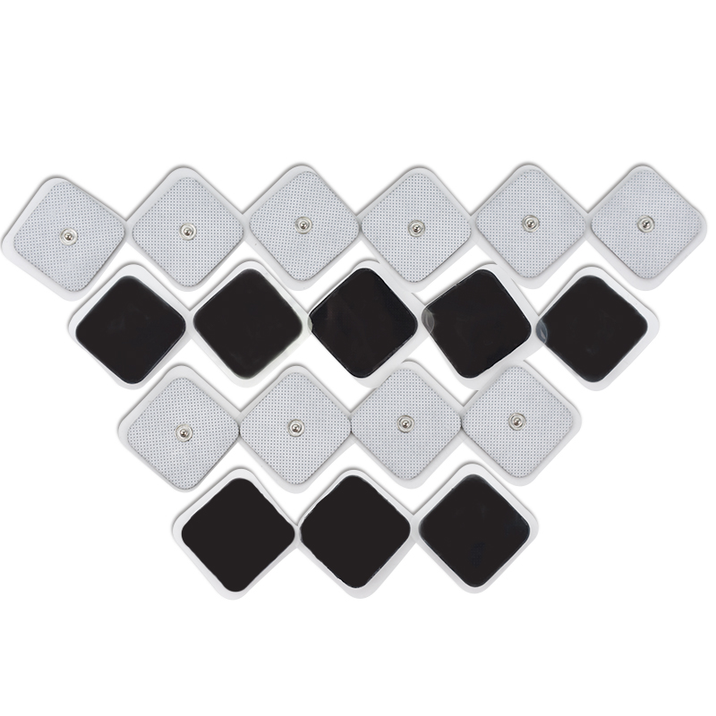 100Pcs Reusable Self Adhesive Tens Electrode Pads For Massage Therapy EMS Muscle Stimulator Physiotherapy Massager 3.5mm Plug цены