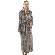 2ecd21748 MUQGEW vestido de noche las mujeres Albornoz bata de algodón de invierno de las  mujeres alargado coralinas de Chal Albornoz de m.