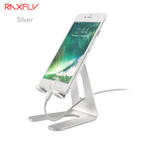 RAXFLY New Aluminum Metal Phone Stand Holder For IPhone 6 Plus 7 Plus Samsung Galaxy S8