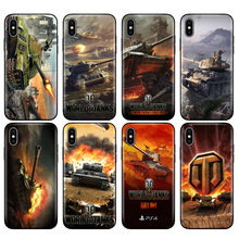 Preto tpu case para iphone 5 5s se 6 6s 7 8 plus x 10 caso capa de silicone para iphone caso MAX XR XS mundo de tanques(China)