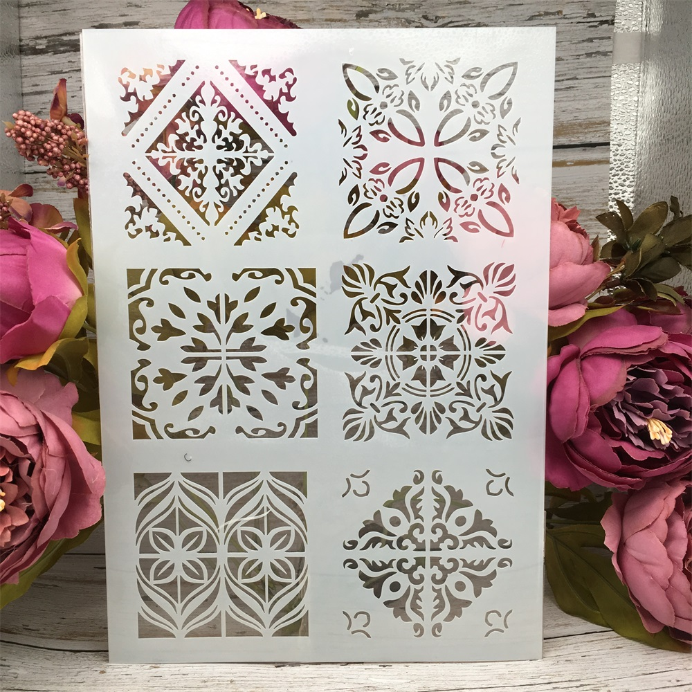 A4 29cm Frame Square DIY Layering Stencils Wall Painting Scrapbook Coloring Embossing Album Decorative Paper Card Template