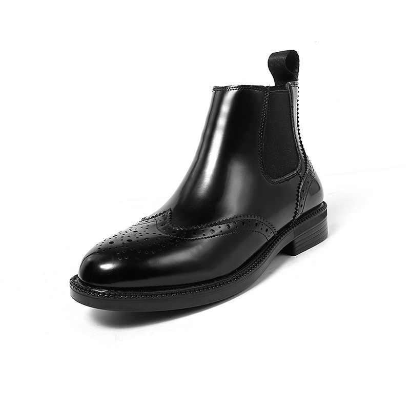 Chelsea çizmeler kadın yuvarlak kafa elastik çizmeler Avrupa ve Amerikan bayan botları H-A908-2