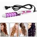 Elétrica Magic Hair Styling Ferramenta Rizador De Pelo Rolo Modelador de Cabelo Pro Onda Espiral Curling Iron Wand Styler ue plug