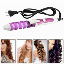 Electric Magic Hair Styling Tool Rizador De Pelo Hair Curler Roller Pro Spiral Curling Iron Wand Curl Styler eu plug