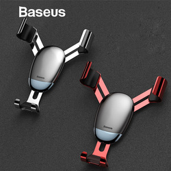 Baseus Gravidade Universal Car Holder Air Vent Mount Car Holder Telefone para iPhone XR XS Max Samsung Mini Telefone Móvel estande titular