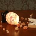 Chinese Wind Crystal Salt Bedroom Bedside Lamp 110V 240V Classical Warmth  E14 40W Aromatherapy Desk Lamp Switch Button Desk Lig