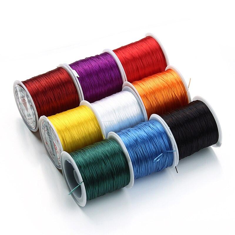 40 metre/rulo siyah beyaz streç elastik kordon bilezik kolye naylon boncuk kordon dize iplik Diy takı yapımı tedarik