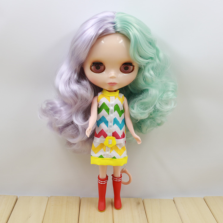 ФОТО Nude Blyth doll mini cute doubble colors long hair new year gifts dolls for girls