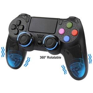 Image 5 - 용 PS4 컨트롤러 핸들 무선 블루투스 게임 joypad 듀얼 충격 진동 조이스틱 PlayStation 4