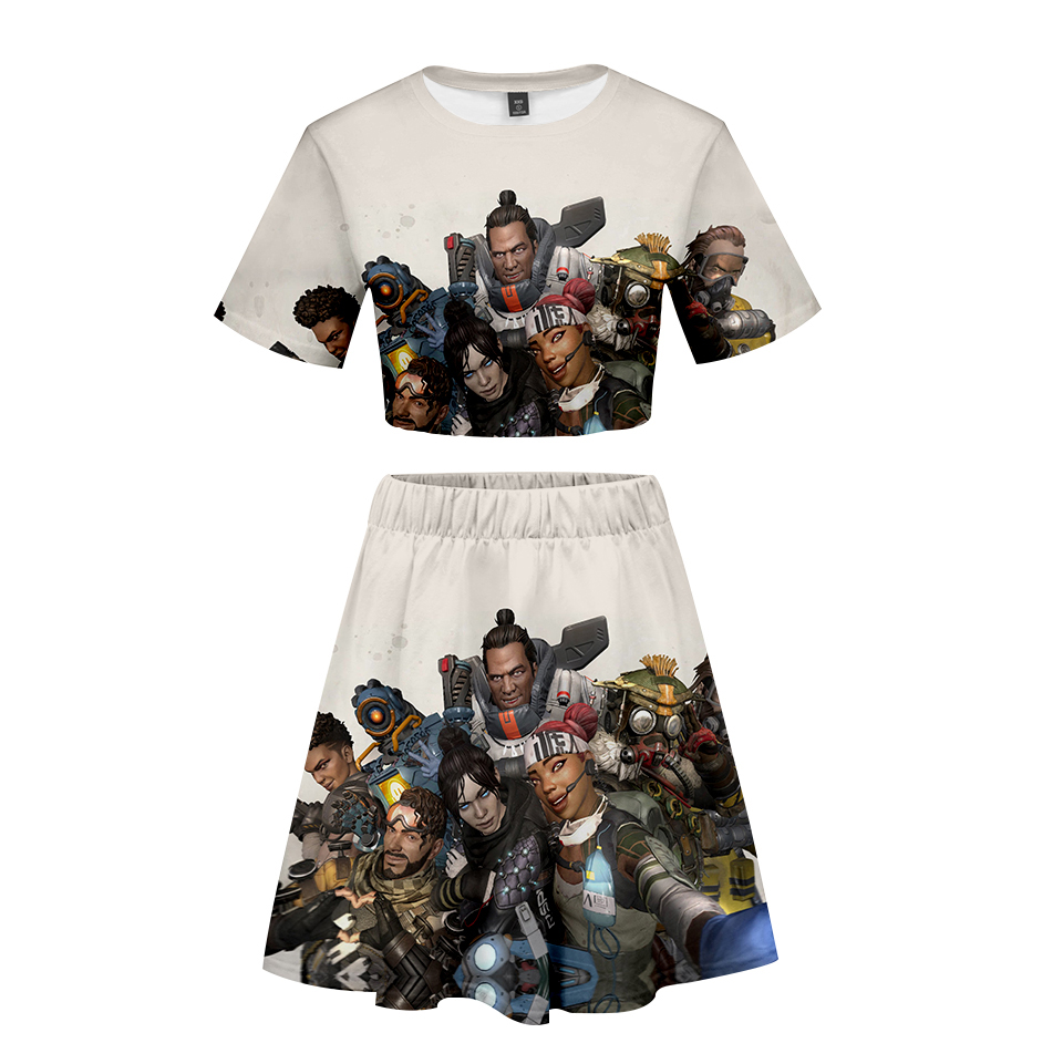 Suits & Sets Just New Hot Pokemon Sword And Shield Women Two Piece Sets Short Sleeve Crop Top+shorts Hot Sale Casual Streetwear Sexy Clothes