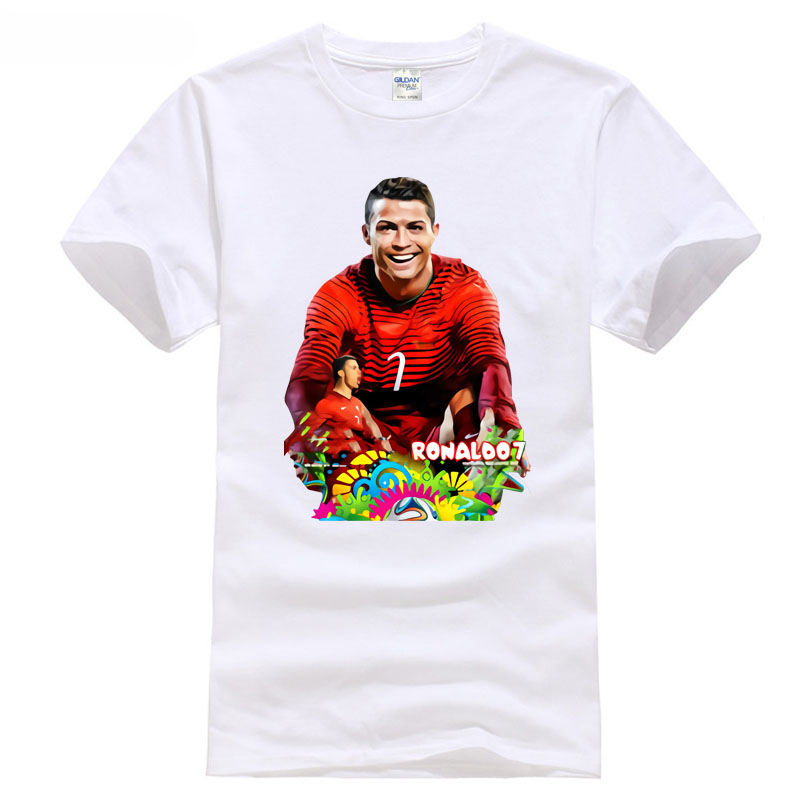 Cotton T-Shirt Fashion 2018 club Ronaldo NO.7 in Madrid city footballer champions games ...