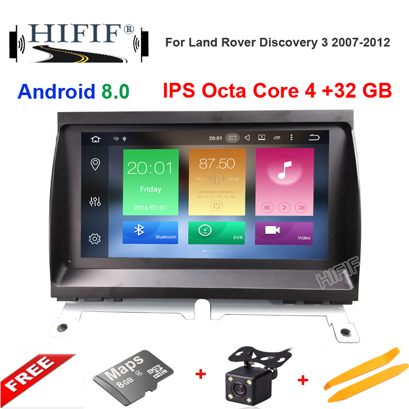 7 Inch Car DVD GPS Stereo Player For Land Rover Discovery 3 2007-2012 With Touch Screen;Bluetooth, Keep Original UI/Radio
