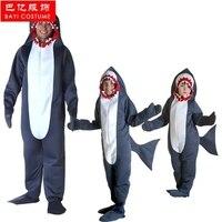 Байи Горячая Акула одежда Хеллоуин костюм взрослые дети косплей костюм акулы для карнавала наивысшего качества