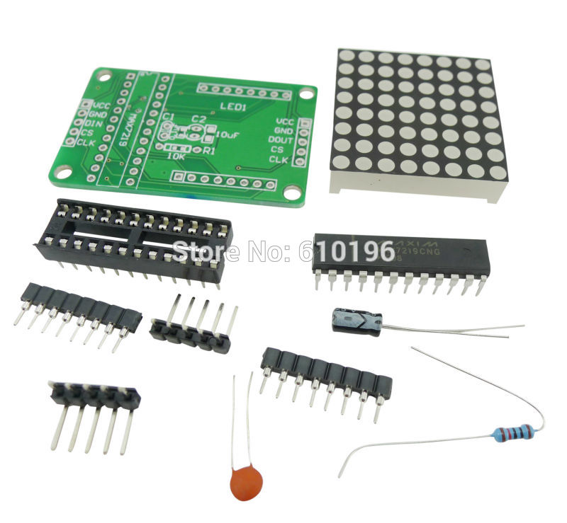 MAX7219 Dot Matrix Display Module DIY Kit SCM Control Module For Arduino