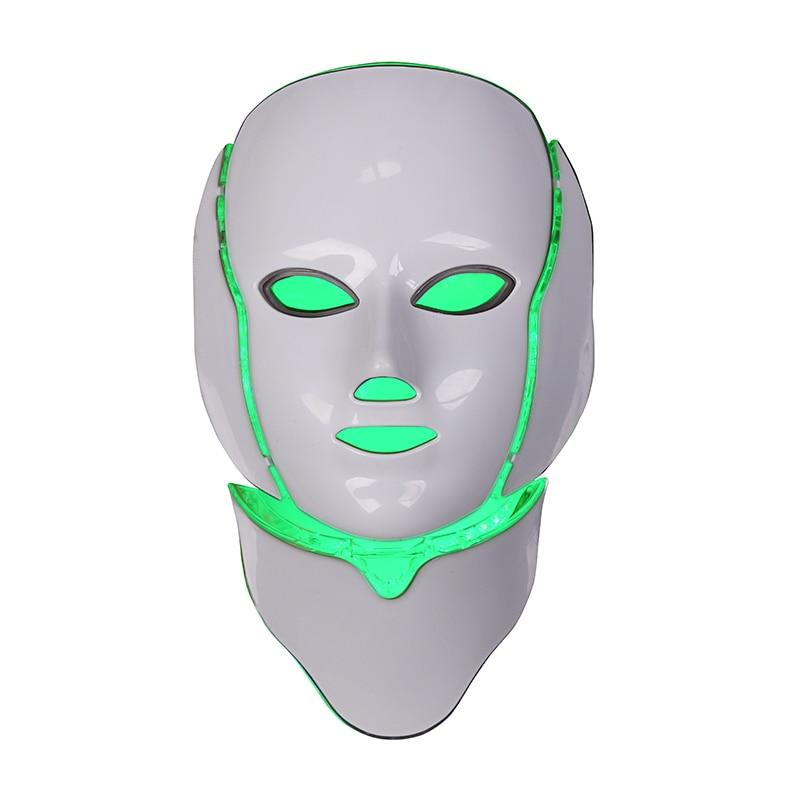 2017 Produits Chaude Micro-Ordinateur Du Visage Rajeunissement de La Peau PDT Photothérapie Système 7 Couleurs Masque Électronique Ménage LED Visage Mas