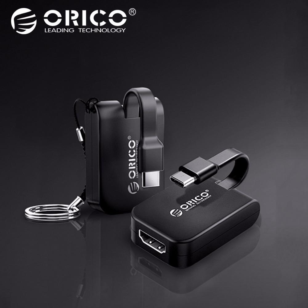ORICO Type C Converter USB C Type To HDMI VGA DP Mini DP Adapter 5CM Mini Type C HUB For MacBook/HUAWEI P10 20/Samsung