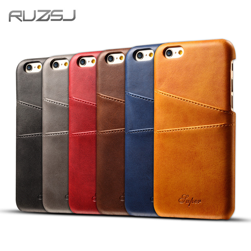 Luxury PU Leather Wallet Case For iPhone Case Plus iPhone X Case