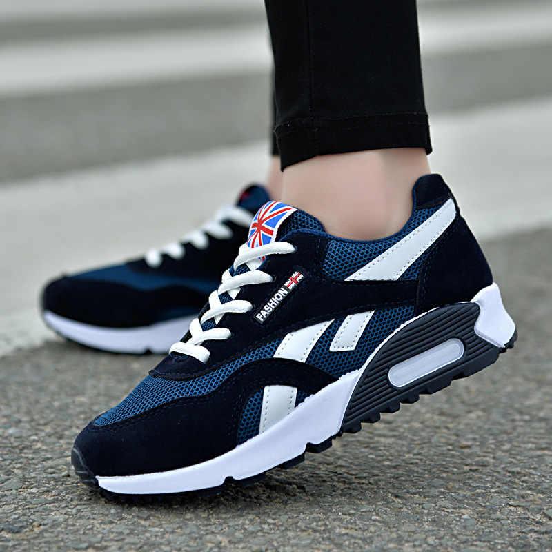 2018 แฟชั่นรองเท้าผ้าใบสตรีรองเท้าตาข่าย Air Grils Wedges รองเท้าผ้าใบรองเท้าผู้หญิง Tenis Feminino Zapatos Mujer ไม่มีโลโก้