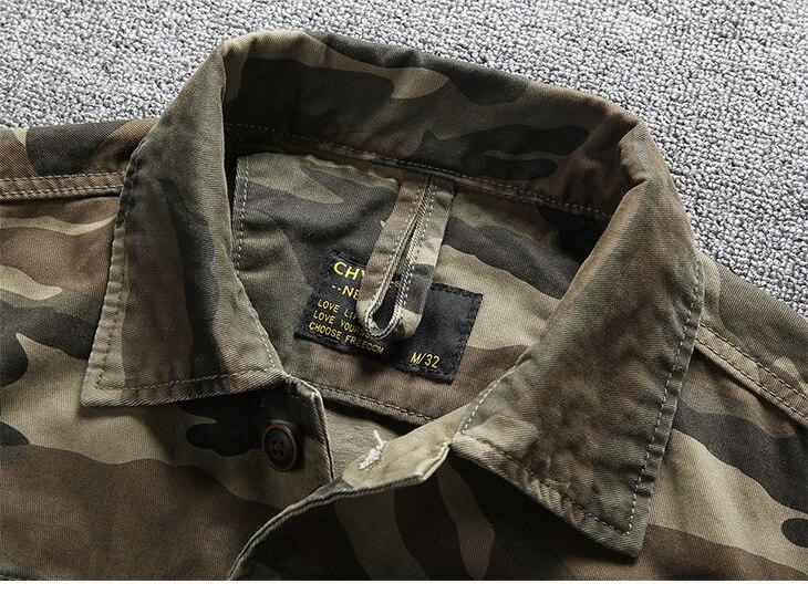Hommes en plein air randonnée escalade Sports militaires chemises printemps automne coton Camouflage à manches longues respirant tactique Cargo chemise - 6