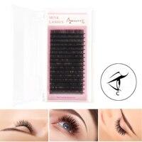 Beauty7 16Rows Tray C Curl Fake False Eyelashes All Size For Eyelash Extension Individual Black Tray