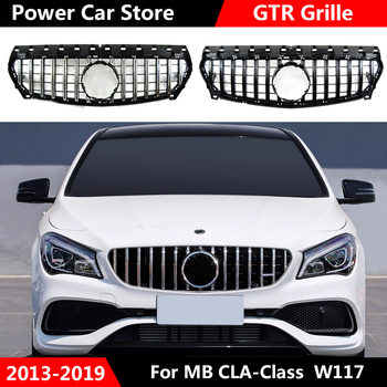 GTR Style Car Front Grille Grill For Mercedes Benz W117 CLA180 CLA200 CLA250 CLA260 CLA45 AMG 2013-2016/2017-2019
