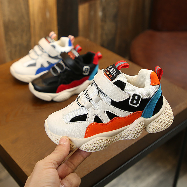9cf7849d04c22 Spring Autumn New Children's Shoes Boys Girls White Sneakers Kids Sports  Shoes Breathable Fashion Casual Shoes