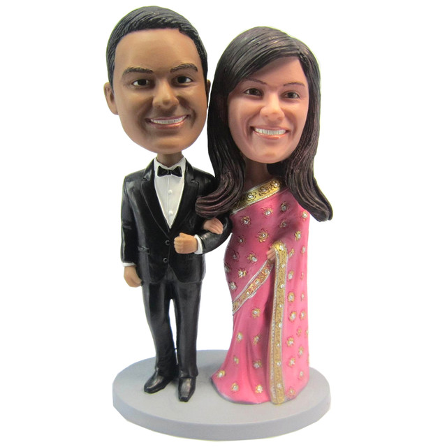 Online shop express free shipping personalized bobblehead doll express free shipping personalized bobblehead doll india couple wedding gift wedding decoration polyresin custom doll junglespirit Gallery