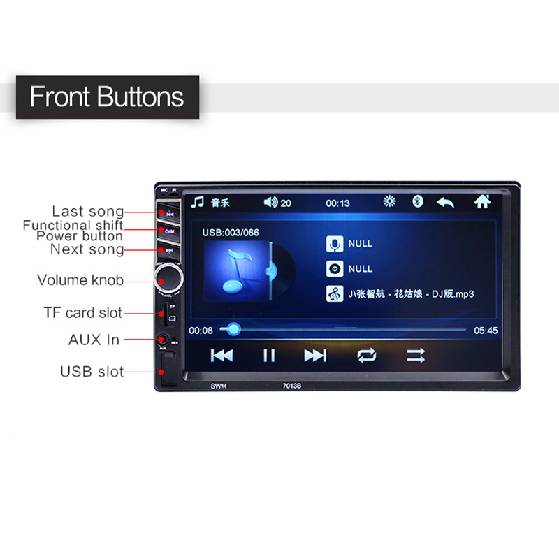 2018 Auto Parts Car Radio In Car Radios High Definition 7 Inch Car MP5 Player Car Bluetooth Music MP4 Card Radio Player Display 2018 auto parts car radio in car radios high definition 7 inch car mp5 player car bluetooth music mp4 card radio player display