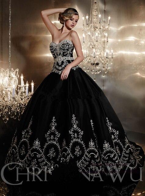 Robe de mariee diamant noir