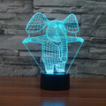 Elefante de la historieta Forma 3D de Luz 7 Que Cambia de Color RGB Touch Mesa de Luz Lámpara de Noche para Los Niños Nightlight Atmósfera lámpara