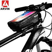 ARVIN Universele Bike Bag Phone Holder Voor iPhone X XR Sansung S9 Regendicht Waterdichte MTB Front Bag 6.2 inch Mobiele telefoon Houder
